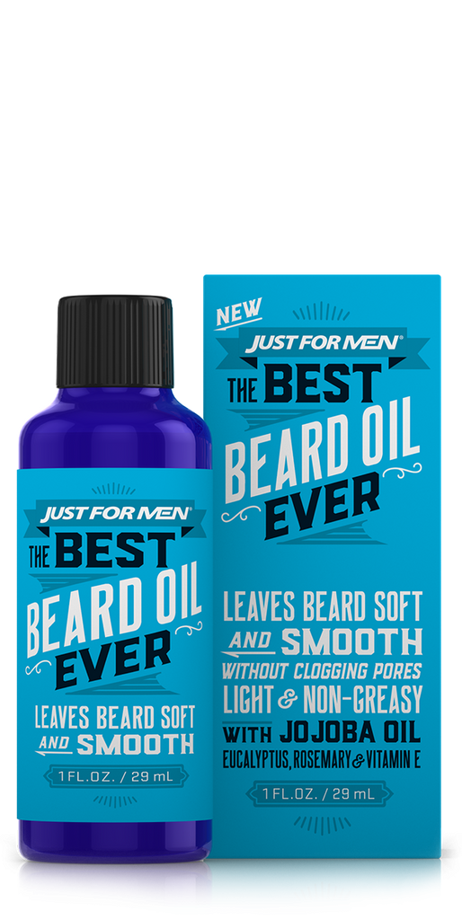 Just For Men The Best Beard Oil Ever with Jojoba Oil Eucalyptus, Rosemary and vitamin E