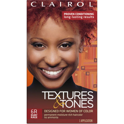 Clairol Professional Textures and Tones Permanent Hair Color Dye, 6R Ruby Rage