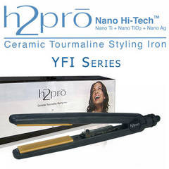 H2pro Pro Ceramic Tourmaline Styling Flat Iron YFI Series (Model 205YFI)  1""