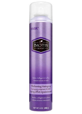 Hask Biotin Boost Thickening Hairspray biotin, collagen and coffee instant volume and hold (9 oz)