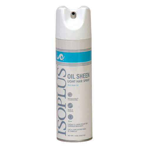 Isoplus Oil Sheen Light Hair Spray With Mink Oil