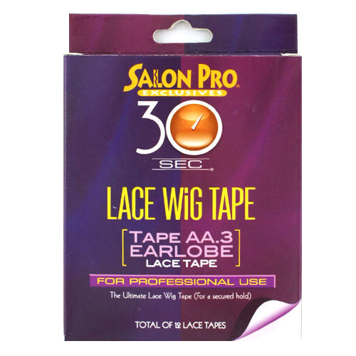 Salon Pro 30sec Lace Wig Tape Tape AA.3 Earlobe