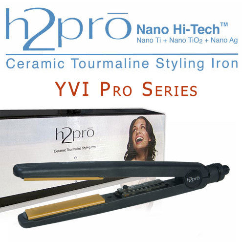 H2pro Nano Hi-Tech Ceramic Tourmaline Styling Flat Iron YVI Series (Model#100YVI) Master 4/10""