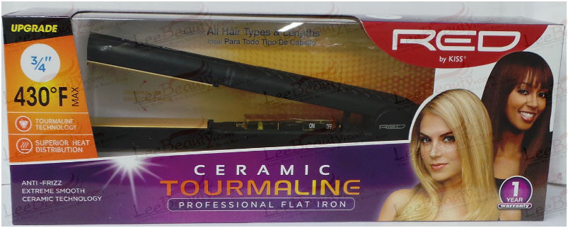Red Ceramic Tourmaline Flat Iron 3/4 Inch