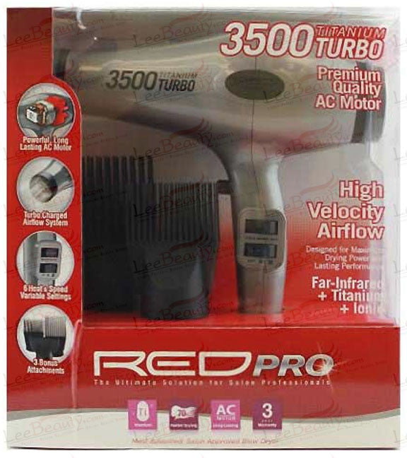 Red Pro Titanium 3500 Turbo Hair Dryer