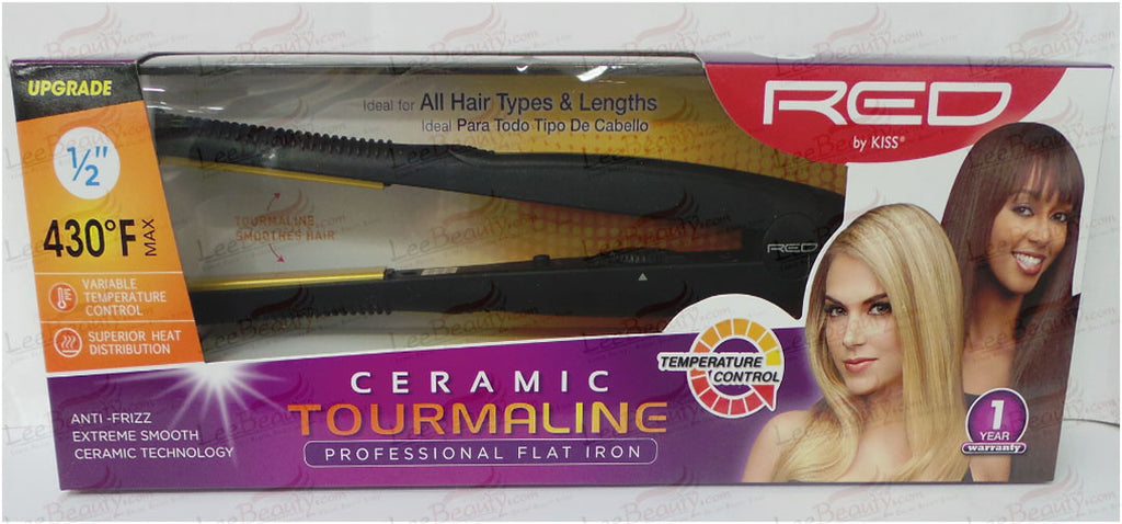 Red Ceramic Tourmaline Flat Iron 1/2 Inch