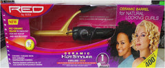Red Ceramic Curling Iron 1/2 Inch