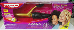 Red Ceramic Curling Iron 5/8 Inch