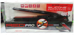 Red Pro Titanium Flat Iron Silicon Protection 1/2 Inch