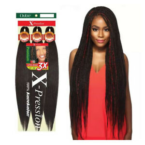 Outre Synthetic Pre-Stretched X-Pression Braiding Hair 3X 52""
