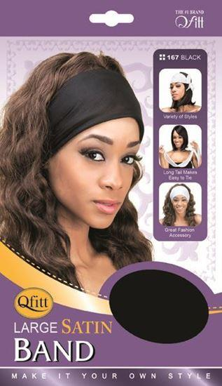 Qfitt Large Satin Band 167 Black