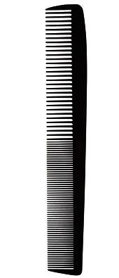 SalonChic Comb High Heat Resistant Cutting Carbon 7.5 inches SC9178