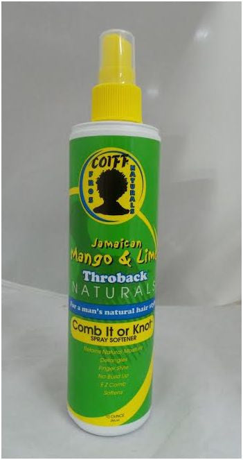 Jamaican Mango & Lime Throback Naturals Comb it or Knot Spray Softener (10 oz.)