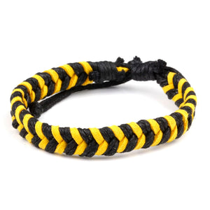 Chevron Bracelet - Black & Gold