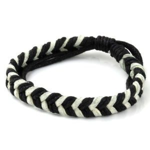 Chevron Bracelet - Black & White