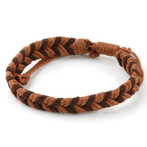 Chevron Bracelet - Brown & Chocolate