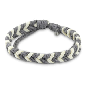Chevron Bracelet - Gray & White