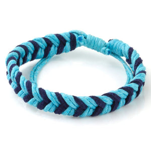 Chevron Bracelet - Light Blue & Navy