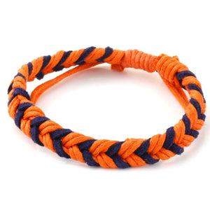 Chevron Bracelet - Orange & Navy