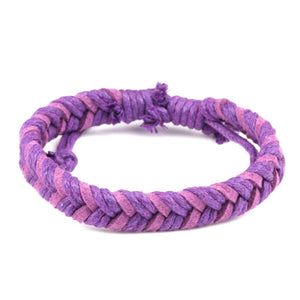 Chevron Bracelet - Purple &