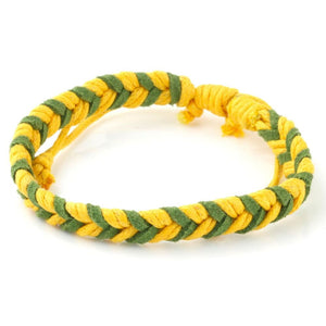 Chevron Bracelet - Yellow & Green