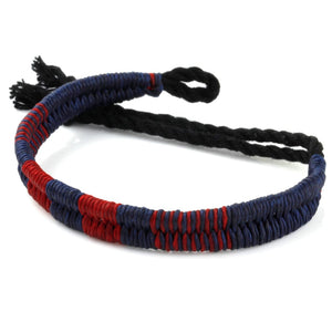 Festival Bracelet - Navy / Dark Red