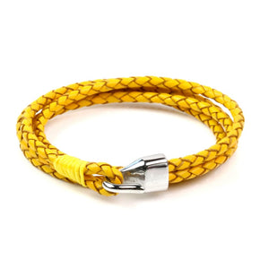 Leather Double Braided Hook - Yellow / 6 1/2