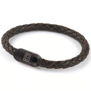 Copy of Leather Single Wrap - Chocolate / Matte Black