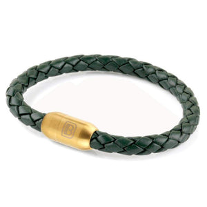 Copy of Leather Single Wrap - Green / Gold
