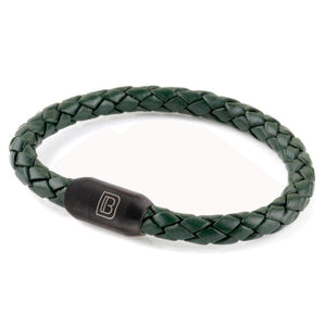 Copy of Leather Single Wrap - Green / Matte Black
