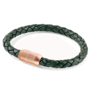 Copy of Leather Single Wrap - Green / Rose Gold