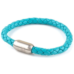 Copy of Leather Single Wrap - Turquoise / Silver