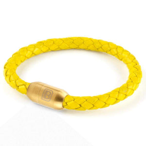 Copy of Leather Single Wrap - Yellow / Gold