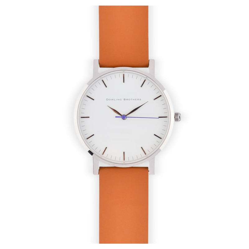 Minimalist Watch - White - Brown
