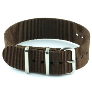 Nylon Watch Strap - Brown