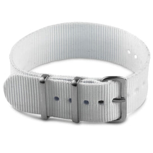 Nylon Watch Strap - White