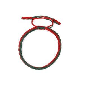 Tibetan Bracelet - Red and Green