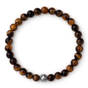 Voyager - Tiger Eye - Silver / 6 - 3/4