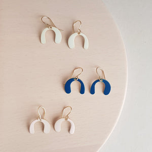 Freeform Arch Earrings (Pink-Mint-Blue)