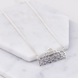 Brighton West Pier Necklace - Sterling Silver