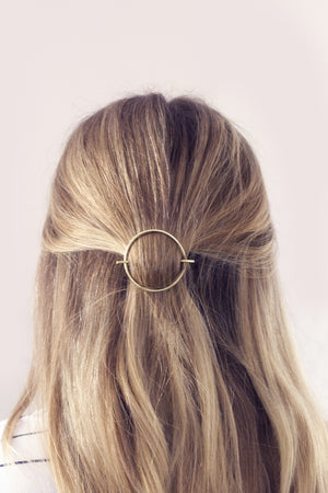 Circle Brass Hair Slide