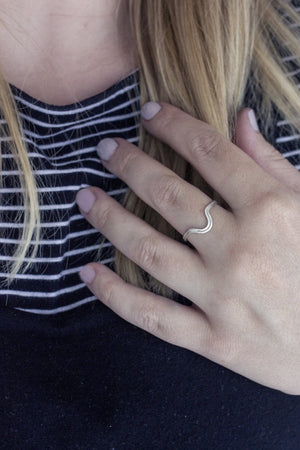 Curved Layered Ring