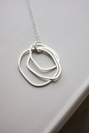 Layered Organic Circle Necklace