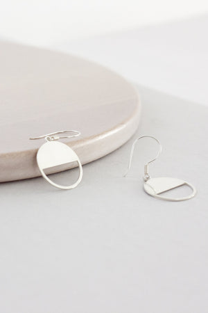 Sterling Half Circle Earrings (Silver)
