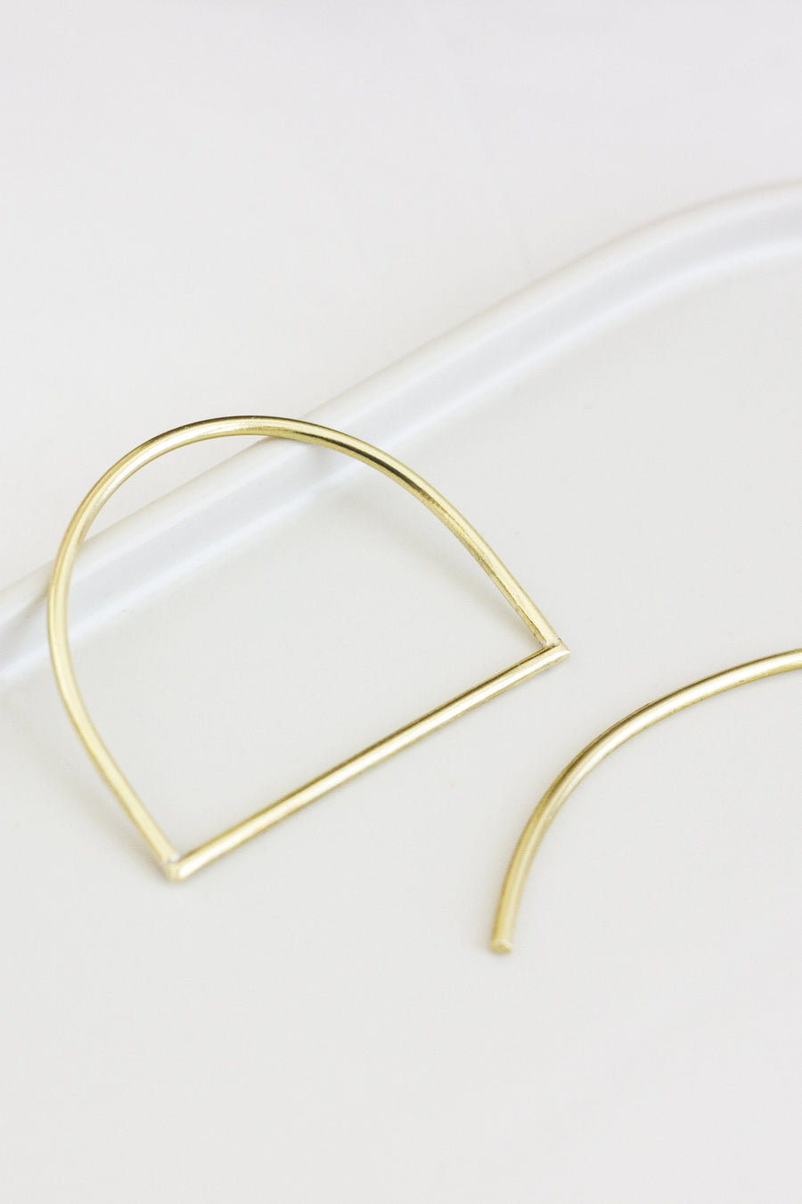 Half Circle Brass Hair Slide