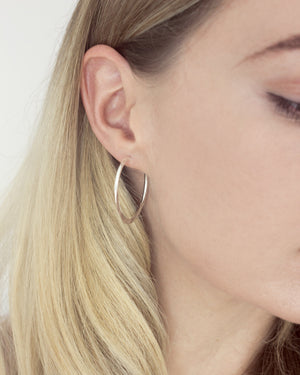 Sterling Silver Hammered Hoops