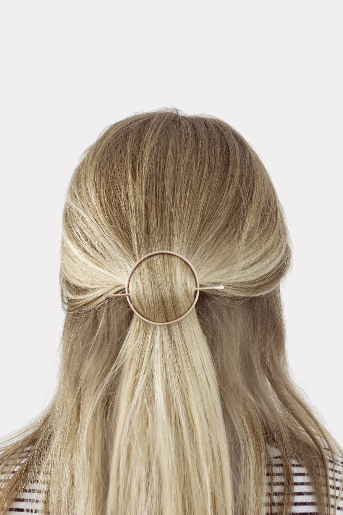 Large Circle Copper Hair Slide