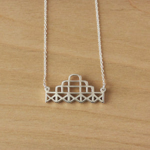 Brighton West Pier Necklace - Sterling Silver/9k Gold