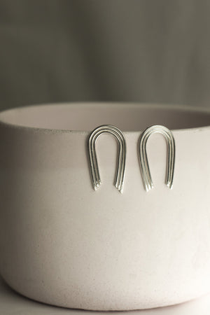 Sterling Silver Rainbow Long Studs