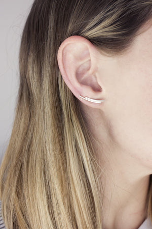 Round Double Bar Ear Climbers